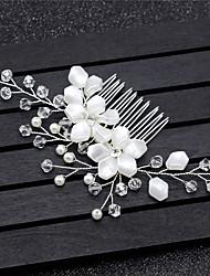 cheap -Alloy Hair Accessory with Imitation Pearl / Crystal / Rhinestone / Flower 1 Piece Wedding Headpiece