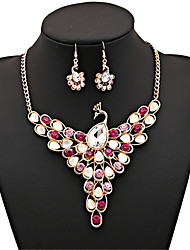 cheap -Women's Cubic Zirconia Bridal Jewelry Sets Classic Peacock Classic Earrings Jewelry Rainbow For Party 1 set