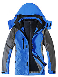 cheap -Men's Hoodie Jacket Hiking Jacket Winter Outdoor Patchwork Waterproof Windproof Fleece Lining Warm Jacket Top Camping / Hiking / Caving Traveling Black / Orange / Army Green / Yellow / Green