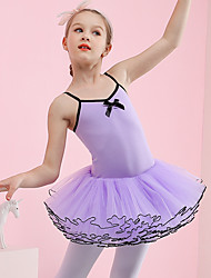 cheap -Ballet Dresses Girls' Training / Performance Cotton / Elastane / Tulle Pleats Sleeveless Leotard / Onesie / Tutus