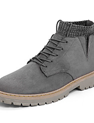 cheap -Men's Suede Shoes Suede Fall Boots Brown / Black / Gray / Outdoor / Combat Boots