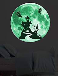 cheap -Decorative Wall Stickers - Luminous Wall Stickers Landscape / Halloween Decorations Living Room / Bedroom / Kitchen