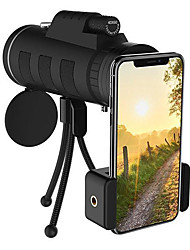 cheap -Phone Lens 40X60 Zoom Monocular Telescope Scope Camera Camping Hiking Fishing Lens With Compass Phone Clip Tripod