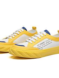 cheap -Men's Comfort Shoes Microfiber Summer Sneakers Yellow