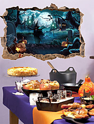 cheap -Decorative Wall Stickers - 3D Wall Stickers / Holiday Wall Stickers Halloween Decorations Bedroom / Dining Room