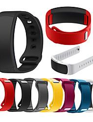 abordables -bracelet de montre pour ajustement de vitesse 2 / ajustement de vitesse 2 pro bande de sport samsung / boucle classique dragonne en silicone pour ajustement de vitesse 2 pro