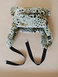 cheap -Women's Unisex Active Basic Cute Fauxfur Trapper Hat-Leopard Fall Winter White Khaki