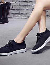 cheap -Women's Athletic Shoes Flat Heel Round Toe Tissage Volant Sporty Cycling Shoes / Walking Shoes Spring &  Fall / Summer Black / White / Pink