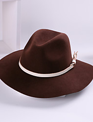 cheap -100% Wool Hats with Trim 1pc Casual / Daily Wear Headpiece