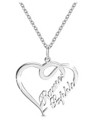 cheap -Personalized Customized Necklace Name Necklace Heart Gift Daily Holiday Heart Shape 1pcs Silver / Laser Engraving