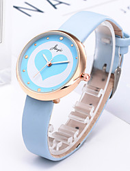 cheap -Women's Quartz Watches New Arrival Minimalist White Blue Orange PU Leather Chinese Quartz White Blushing Pink Orange Chronograph Cute Creative 1 pc Analog One Year Battery Life