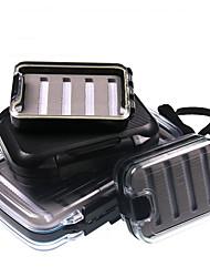 cheap -Fishing Tackle Box Flies Box Water-repelling Hard Plastic