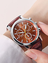 cheap -Boys' Dress Watch Quartz Stylish Leather Black / Brown No New Design Casual Watch Analog New Arrival Fashion - Black Brown Two Years Battery Life / Stainless Steel