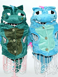 cheap -Dog Halloween Costumes Hoodie Outfits Animal Holiday Halloween Winter Dog Clothes Blue Green Costume Polyster S M L XL XXL