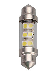 cheap -1pcs 36mm 6SMD 1210/3528 C5W Car LED Festoon Dome Light Bulb
