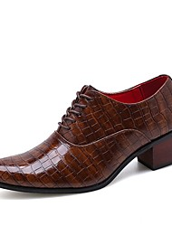 cheap -Men's Formal Shoes PU Spring & Summer / Fall & Winter Casual / British Oxfords Height-increasing Black / Brown / Party & Evening