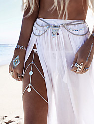 cheap -Body Chain Leg Chain Ladies Boho Bohemian Women's Body Jewelry For Casual Sports Tassel Fringe Alloy Gold Silver Golden Turquoise Leg Chain