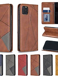 cheap -Case For Apple iPhone 11 / iPhone 11 Pro / iPhone 11 Pro Max Wallet / Card Holder / with Stand Full Body Cases Solid Colored PU Leather / TPU
