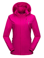 cheap -Wolfcavalry® Women's Hiking Jacket Winter Outdoor Waterproof Windproof Breathable Warm Jacket Top Hunting Fishing Camping / Hiking / Caving Violet / Red / Fuchsia