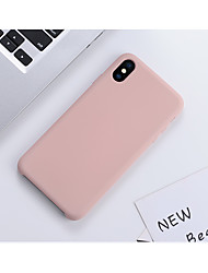 cheap -Phone Case For Apple Back Cover Silicone iPhone 11 Pro Max SE 2020 X XR XS Max 8 7 6 Shockproof Ultra-thin Tile Solid Color Silica Gel Silicone