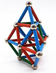 Недорогие -63 pcs Магнитные игрушки Магнитные шарики Магнитные палочки Конструкторы Сильные магниты из редкоземельных металлов Неодимовый магнит Неодимовый магнит металлический Магнитный