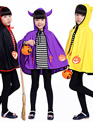 cheap -Halloween Masquerade Paper-play Little Devil Horns Coat Cute Boys and Girls Halloween Costume Costumes