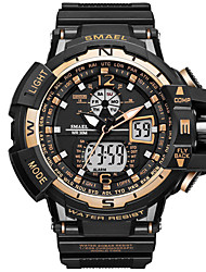 cheap -SMAEL Men's Sport Watch Digital Sporty Rubber Black 30 m Military LED Light Stopwatch Analog - Digital Outdoor - Black / Blue black / gold Black / Rose Gold One Year Battery Life / Maxell CR2025