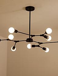 cheap -9-Light Fashion Nordic Chandelier Sputnik Chandelier Ambient Light Painted Finishes Chandelier Pendnat Lamp for Indoor Dining Room Adjustable Design Pendant Lights Metal Lamp Black