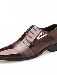 cheap -Men's Leather Shoes Leather Spring / Fall & Winter Business / British Oxfords Walking Shoes Non-slipping Black / Brown / Wedding / Party & Evening
