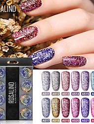 Недорогие -Кусачки для ногтей УФ-гель польский 5 ml 12 pcs Blinging Замочить от Долгое Подарок Blinging Модный дизайн / Цветной