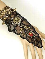 cheap -Women's Red Vintage Bracelet Ring Bracelet / Slave bracelet Earrings / Bracelet Rivet Skull Statement Vintage Trendy Gothic Fashion Alloy Bracelet Jewelry Black For Halloween Club
