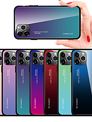 cheap -Gradient Tempered Glass Case For iphone 11 Pro Max / iphone 11 Pro / iphone 11 / XS Max XR XS X 8 Plus 8 7 Plus 7 6 Plus 6 Phone Cases Cover Silicone Soft TPU Protective Fundas