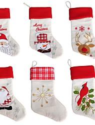 cheap -1pcs Christmas Gift Bags Hanging Tree Party Tree Decoration Santa Stockings Sock