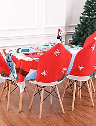 cheap -2pcs Christmas Decoration New Year Family Table Christmas Snowflake Chair Set Seat Christmas Accessories