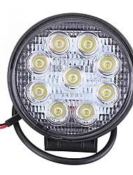 Недорогие -1шт 27w автомобиль 9led круглый свет работы яркий светильник белый для лагеря грузовик atv
