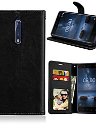 cheap -Case For Nokia Nokia 8 / Nokia 8 Sirocco / Nokia 7 Magnetic / Auto Sleep / Wake Up Full Body Cases Solid Colored PU Leather / TPU