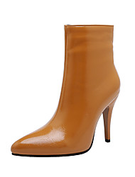 cheap -Women's Boots Stiletto Heel Pointed Toe PU Booties / Ankle Boots Classic Fall & Winter Black / White / Yellow / Party & Evening