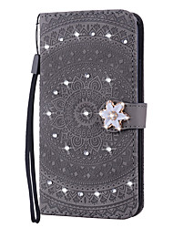 cheap -Case For Huawei Applicable to Huawei P30/P30 Pro/P30 Lite/P20/P20 Pro/P20 Lite/Mate20/Mate20 Pro/Mate20 Lite Wallet-type Drill Mandala Embossed Anti-fall Mobile Phone Case