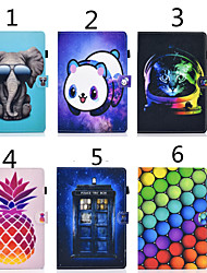 cheap -Case For Apple iPad Air / iPad 4/3/2 / iPad Mini 3/2/1 Card Holder / with Stand / Magnetic Full Body Cases Cat / Animal PU Leather