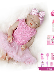 cheap -20 inch Reborn Doll Baby Girl Kids / Teen with Clothes and Accessories for Girls' Birthday and Festival Gifts / Full Body Silicone / Full Body Silicone