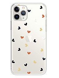 cheap -Case For Apple iPhone 11 / iPhone 11 Pro / iPhone 11 Pro Max Ultra-thin / Transparent / Pattern Back Cover Heart TPU