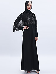 cheap -Arabian Adults' Women's Cosplay Casual / Daily Cosplay Costume Arabian Dress Hijab / Khimar For Party Halloween Ice Silk Embroidery Halloween Carnival Masquerade Dress