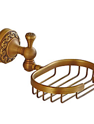 cheap -Soap Dishes & Holders Creative Antique / Traditional Brass Bathroom Wall Mounted