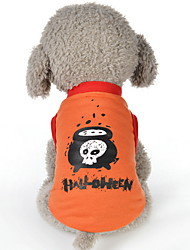 cheap -Dogs Vest Winter Dog Clothes Black Purple Orange Halloween Costume Baby Small Dog Polyster Geometric Holiday XS S M L XL