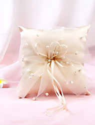cheap -Cloth Pearl Nonwovens Ring Pillow Garden Theme / Pillow / Wedding All Seasons