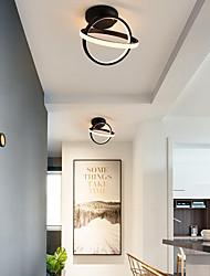 cheap -LED Ceiling Light Corridor Lamp Ring Black White Geometric Shape Kitchen Entrance Hall Porch Balcony Flush Mount Light