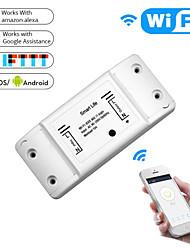 cheap -MoesHouse MS-101 DIY WiFi Smart Light Switch Universal Breaker Timer Smart Life APP Wireless Remote Control Works With Alexa Google Hom