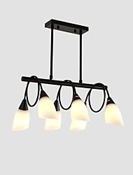 cheap -6-Light 6-head Vintage Modern Chandelier Glass Island Pendant Living Room Bedroom Dining Room Lights
