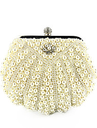cheap -Women's Pearls Polyester Evening Bag Embroidery Black / White / Blushing Pink