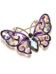 cheap -Women's Brooches Retro Swan Butterfly Dream Artistic Fashion Brooch Jewelry Black For Party Festival